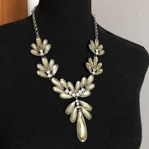 Baublebar Silver Stone Drop Necklace